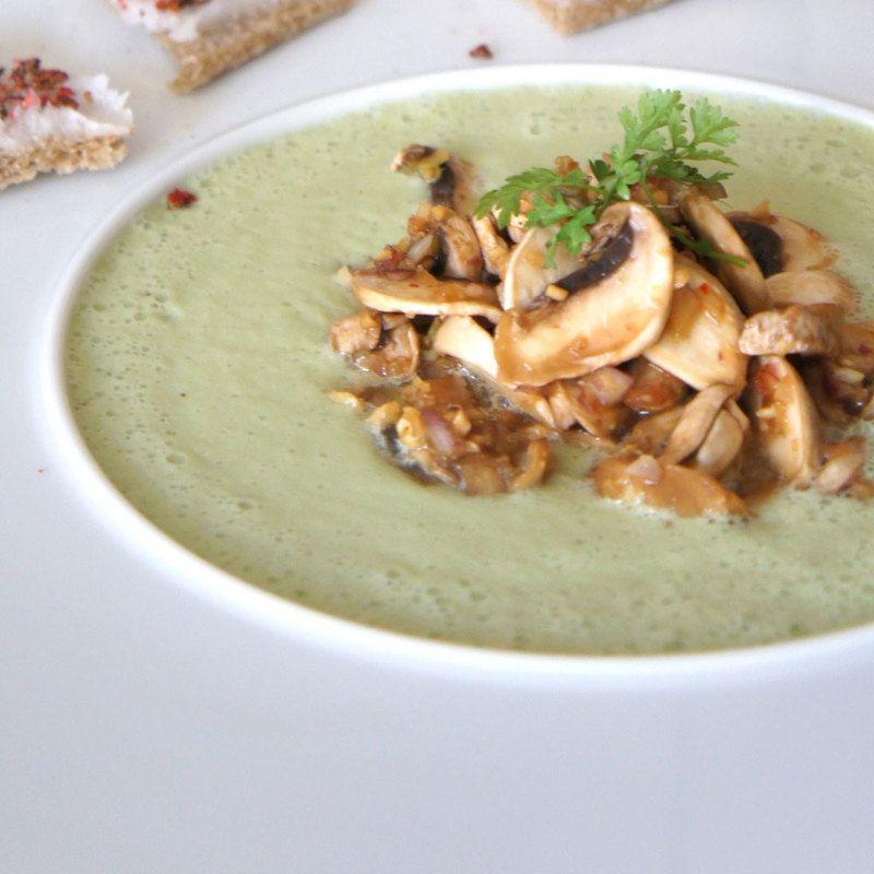 Maronensuppe mit Steinpilzen
