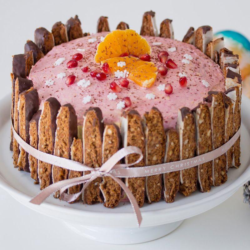 Orangen-Granatapfel-Torte mit Lebkuchen