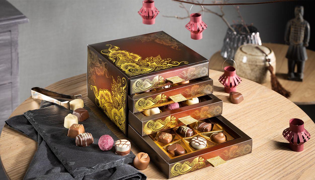 Chocolate Drawers Box