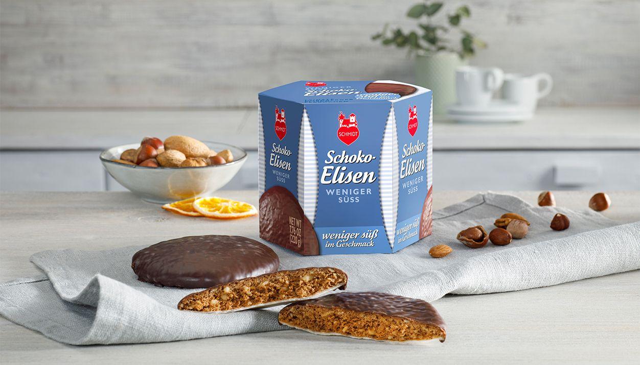 Chocolate Elisen less sweet Delicious Elisen Lebkuchen, less sugar