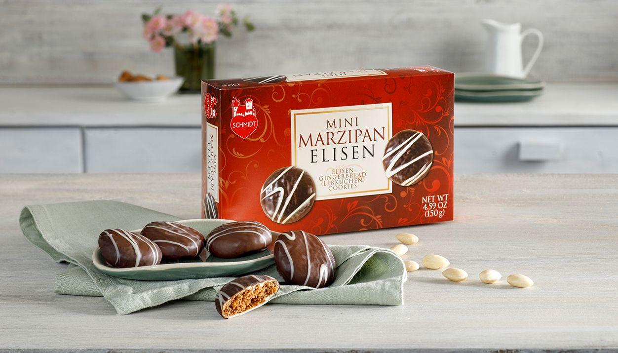 Marzipan Mini-Elise exquisite Lebkuchen with marzipan