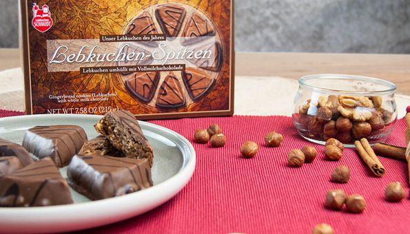 Packung Lebkuchen-Spitzen umhüllt mit Vollmilchschokolade