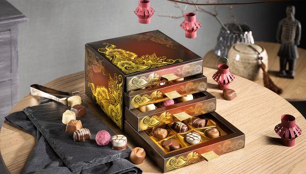 Pralinen Schubladen Box