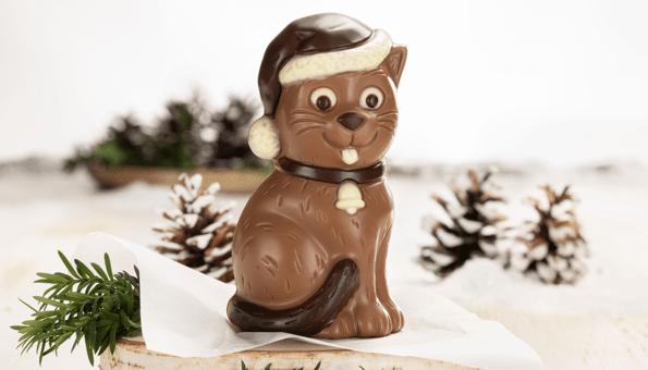Liebevoll gestaltete Figur aus Vollmilchschokolade