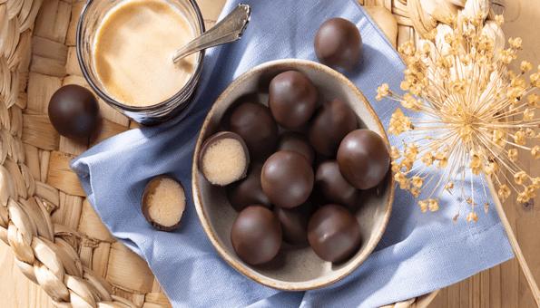 Feinstes Edelmarzipan in Zartbitterschokolade
