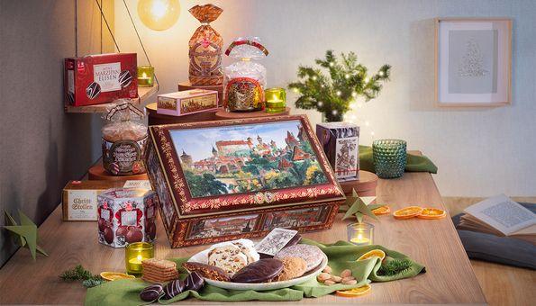Nürnberger Geschenk-Truhe mit Lebkuchen