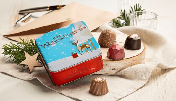 Geschenkdose mit süßem Inhalt
