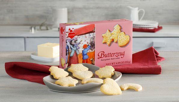 Eine Packung zartes Gebäck mit feinem Buttergeschmack