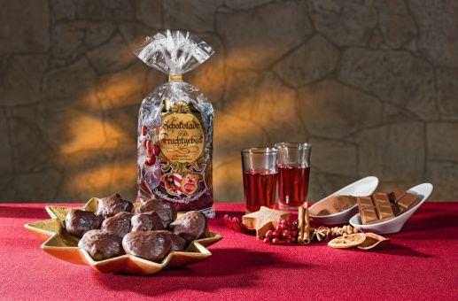 Schokolade-Fruchtgebäck
