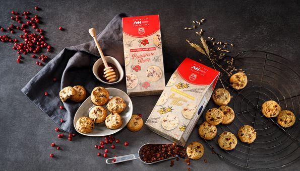 Mürbteig-Kekse Preiselbeere & Honig und Sanddorn & Malz
