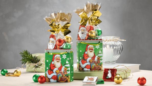 2er Set, mit Weihnachts-Süßwaren gefüllt