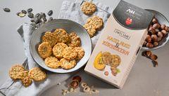 Hazelnut & pumpkin seed crispy biscuits