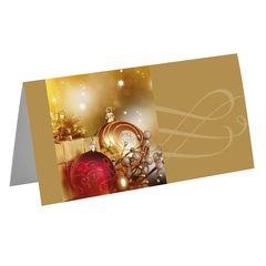 Grußkarte Weihnachten, gold