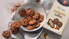Hazelnut cocoa crispy biscuits