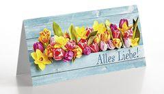 Grußkarte Frühlingsblumen