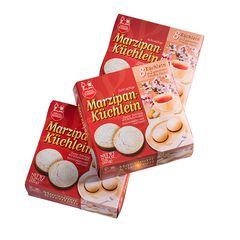 Trio of marzipan cakes