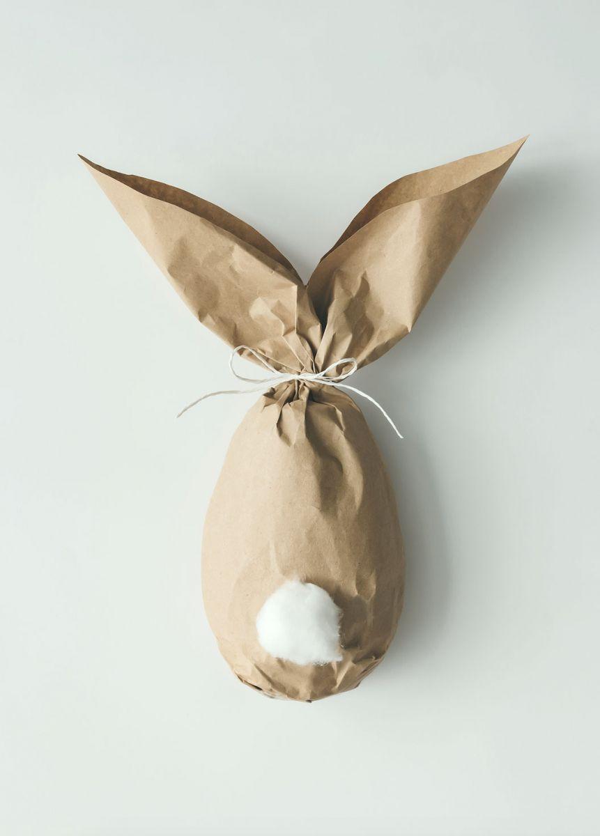 Ostergeschenk lustig verpackt