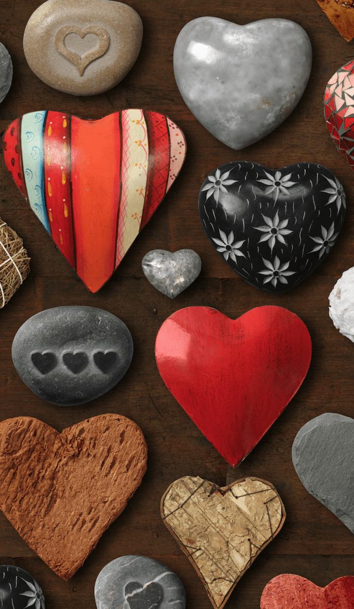 Viele Herzen für den Valentinstag