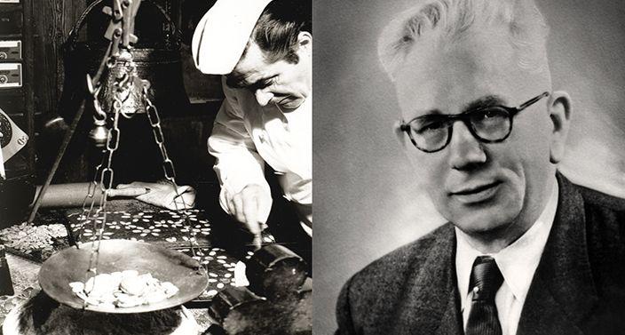 Historisches Bild zeigt Gründer E. Otto Schmidt und Bruder Franz beim Herstellen der Lebkuchen