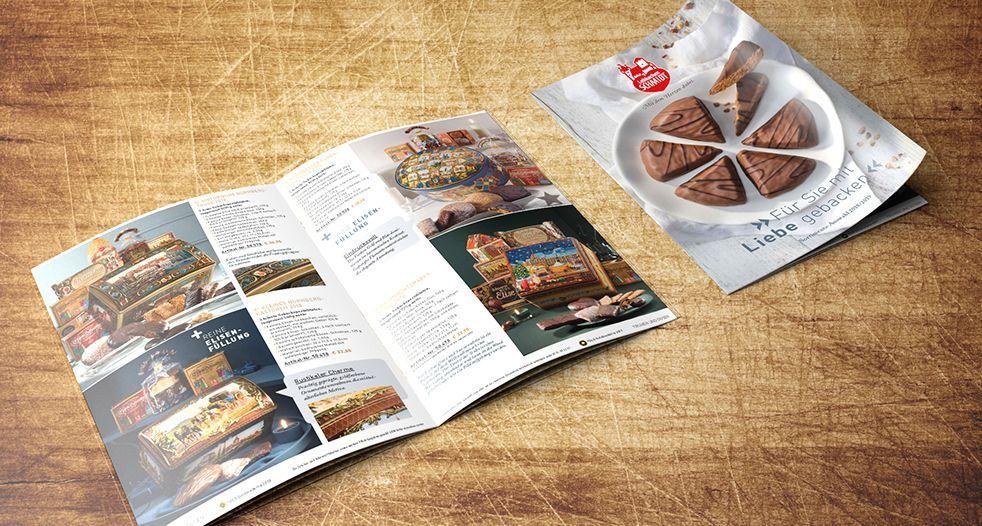 Lebkuchen-Schmidt Katalog mit Kaffee